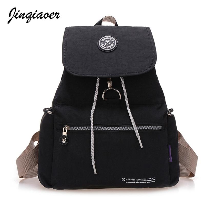 Feminina, Backpack, Travel, Nylon, Backpacks, Bag
