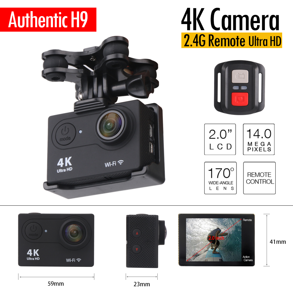 ENEK H9R 4K HD Action Camera 1080P 2.0 LTPS with Remote Control Cam RC Quadcopter Spare Parts for syma X8 X8W X8G MJX Bug3 X102H 180 90cm texas hold em poker table cloth 10 players poker felt layout poker mat big poker layouts