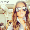 OLTLO Fashion Classic Polarized Sunglasses Women Men Pink Mirror Pilot Polaroid Sun Glasses For Women Brand Shades Oculos Female
