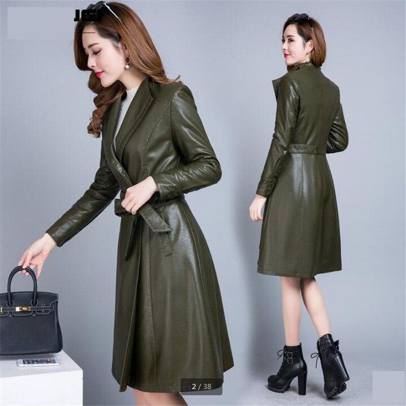 Plus taille Veste Green black Haute D'hiver Manteaux Blazer Green Cuir Femmes Qualité Pu De Pink army light Noir Mode En N8wPkXn0O