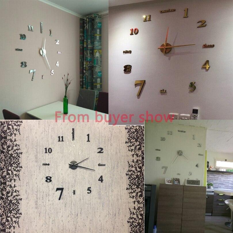 2017 Grand Miroir Horloges Murales Design Moderne Pour Le Cadeau
