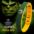Power Ionics Hero Series Hulk IDEA BAND 3000 ions Sports Waterproof Titanium Healthy Bracelet Wristband Balance Body