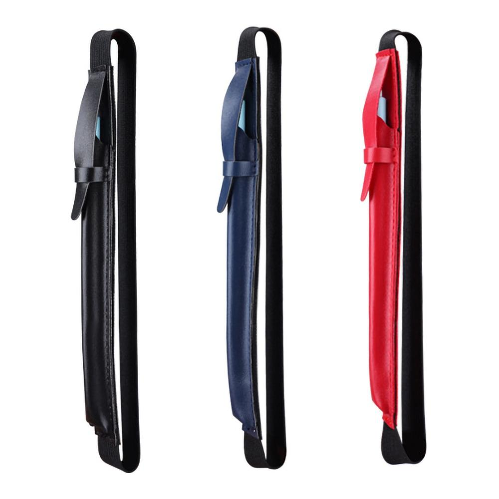 Portable Pencil Case Holder Clip Touch Pen Sleeve Bag With Anti-lost Strap For IPad Pencil Black Blue Red