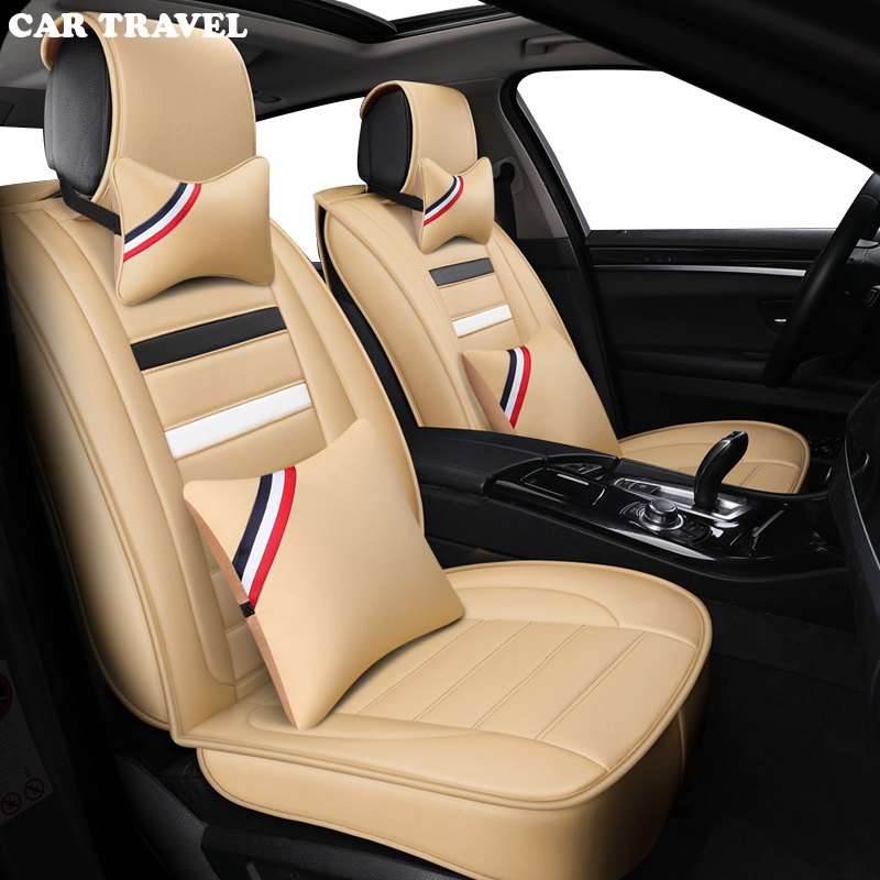 CAR TRAVEL leather car seat cover For mitsubishi pajero 4 2 sport outlander xl asx accessories lancer covers for vehicle seat