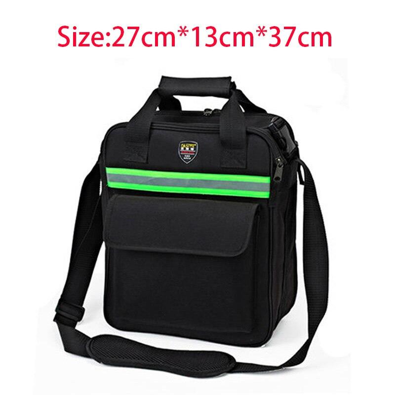 Large Size Multifunctional Tool Bag  Hardware Tool Bag With Shoulder Strap Black
