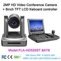 3D джойстик экранной клавиатуре контроллер 20 x ptz-видеоконференция Камера HD-SDI IP HDMI для теле-медицины прямая трансляция системы