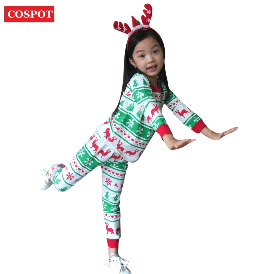 COSPOT kids Christmas Pajamas Set Baby Boys Girls Reindeer Clothing ...