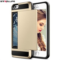 STROLLIFE For iPhone 6 6S 4.7 inch Luxury PC + TPU 2 in 1 Armor All-inclusive Drop Card Back Cover Phone Shell Capa Coque