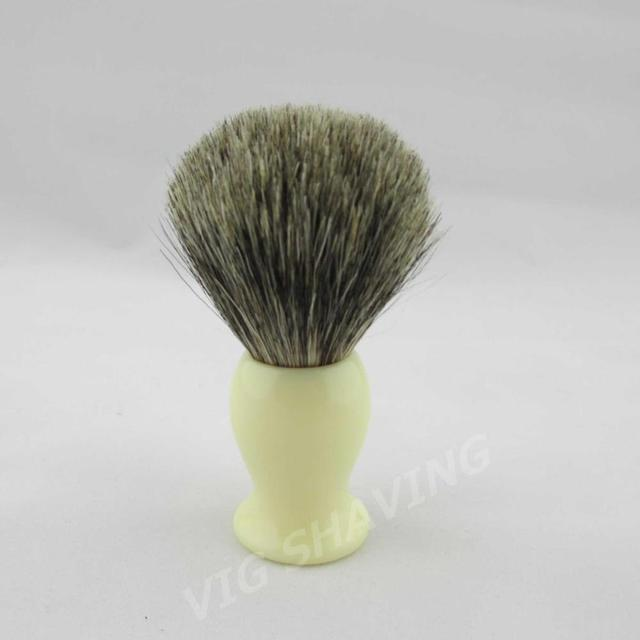 Style 1# Mix Pure Badger Shaving Brush Faux Ivory Handle,Best gift for Men