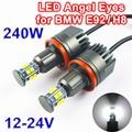 1 Conjunto (2 PCS) 2*120 W 240 W H8 Olhos de Anjo LEVOU Marcador CREE Chips de LED XTE 4800LM branco 7000 K para BMW X5 X6 E71 E82 E90 E92 M3 E60 E70