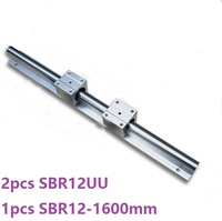 1 stks SBR12-1600mm ondersteuning rail lineaire guide + 2 stks SBR12UU lineaire blokken cnc router onderdelen