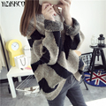 Yizikkco marca mulher camisolas pullovers 2016 new outono inverno mulheres camisola de malha pullover puxar femme mujer sweter whd233