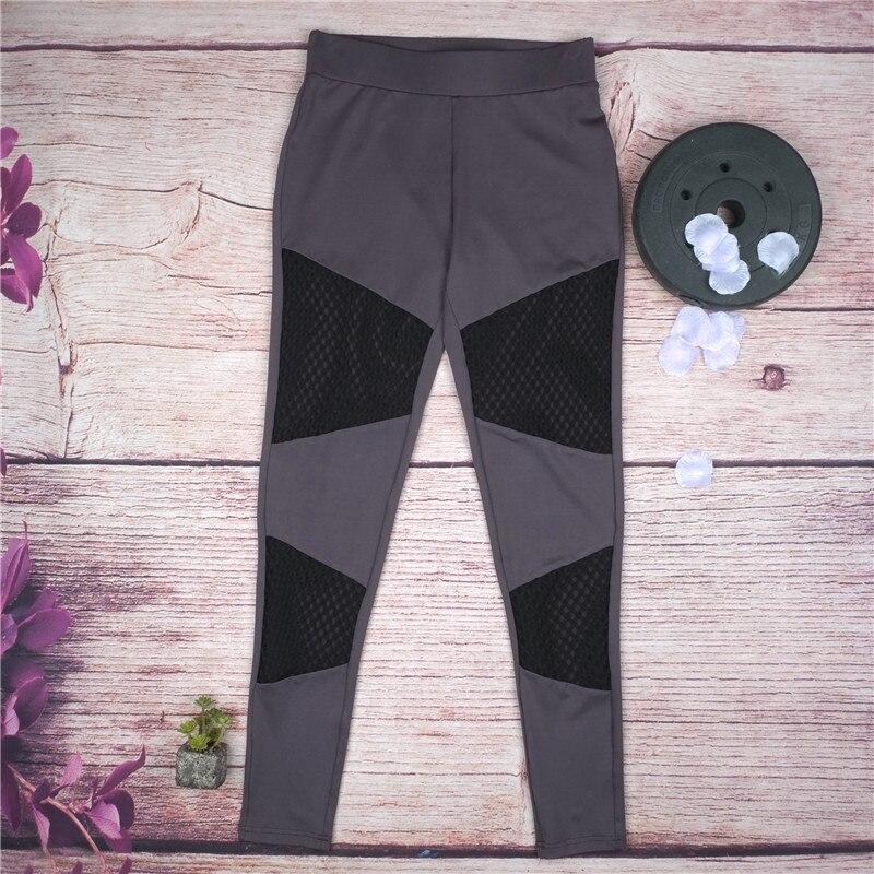 Women Running Pant Quick-Drying Breathable Sports Leggings 2018 Net Yarn Buttocks Yoga Pant Polyester Gym Fitness Leggings