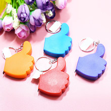 1M Sewing Ruler Meter Portable Tape Measure Mini Measuring Tool Hang Keyring Flexible Rule Tailor Measurement(China)