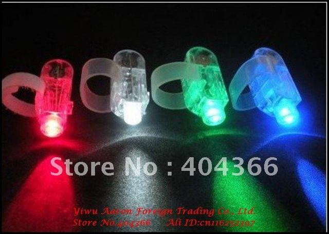1000pcs LED finger ring laser beam glow light 4 colors finger light Christmas party supplies fast delivery free shipping by DHL
