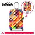 Dispalang brand design accesorios de viaje al por mayor 3d geométrica artl maleta lluvia cubiertas de polvo se aplica a 18-30 pulgadas de la carretilla caso