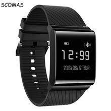 Scomas X9 плюс Bluetooth 4.0 OLED Смарт наручные часы браслет спортивные часы Шагомер крови Давление фитнес-трекер Браслет