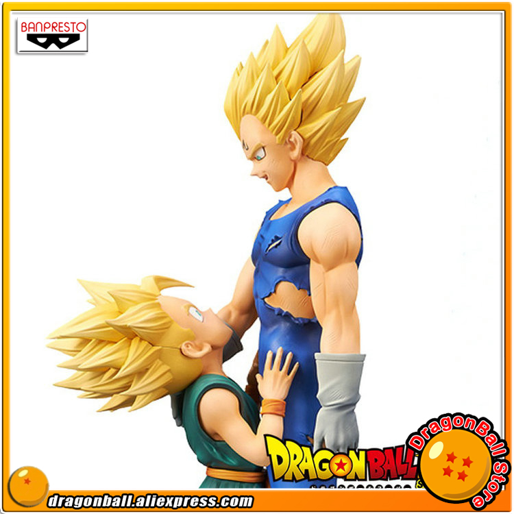 Japan Anime Dragon Ball Z Original Banpresto DRAMATIC SHOWCASE 4th season vol.1 & 2 Toy Figure - Super Saiyan Vegeta & Trunks original banpresto world collectable figure wcf the historical characters vol 3 full set of 6 pieces from dragon ball z