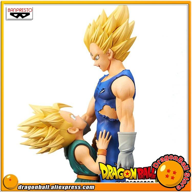 Japan Anime Dragon Ball Z Original Banpresto DRAMATIC SHOWCASE 4th season vol.1 & 2 Toy Figure - Super Saiyan Vegeta & Trunks