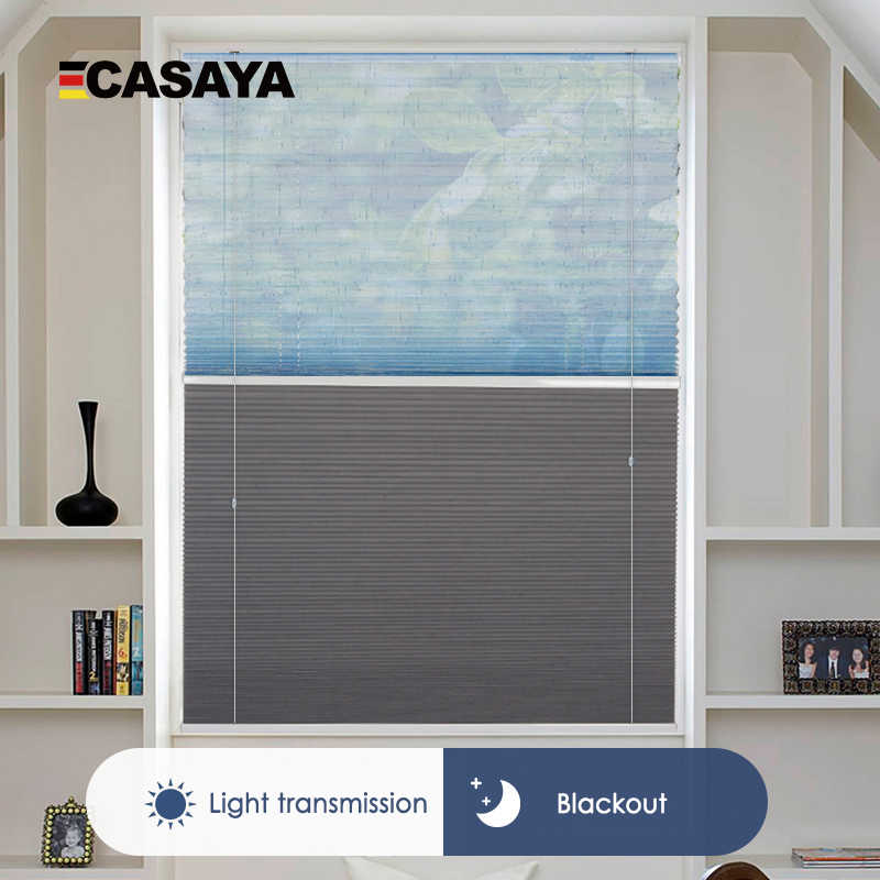 Customize Size Double Blinds Pleated Day and Night Honeycomb Blinds open top and bottom Cellular Curtains