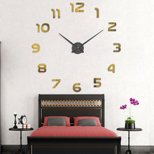 hot deal buy new 9 mm sheet antique style european style free shipping wall clocks new black color large digitial decoration wall clocks