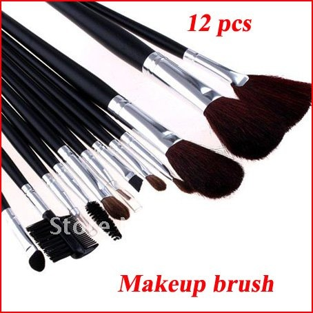 make up brushes 12 PCS brush kit Professional Makeup Brush Set eyebrow face facial powder Make Up Brush Black Leather Case deep face cleansing brush facial cleanser 2 speeds electric face wash machine