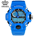 SMAEL S-Shock Men Sports Watches LED Digital-Watch Fashion Outdoor Waterproof Climbing Rubber Army Military Watch Reloj Hombre