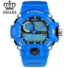 SMAEL S-shock Hombres Deportes Relojes LED Digital Reloj de La Manera Al Aire Libre Impermeable Escalada de Goma Ejército Reloj Militar Reloj Hombre