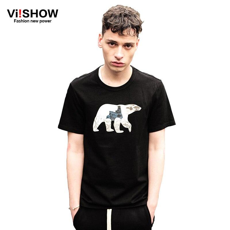 viishow brand clothing t shirt homme de marque men plus size short sleeve t shirt men animal men. Black Bedroom Furniture Sets. Home Design Ideas