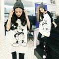 Tops blusas feminina estilo primavera verano 2016 nuevas mujeres coreanas camisetas A1501 mickey de la historieta suelta de manga corta Camiseta femenina