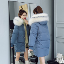 2019 fur Hooded Parka casaco feminino female jacket Coat plus size winter jacket women Casual Down Cotton Long Padded Parkas стоимость