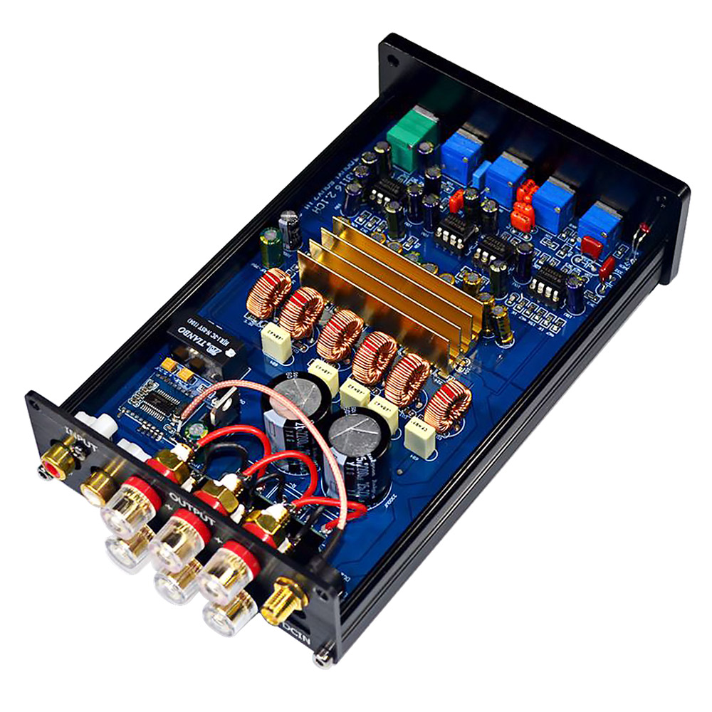 AIYIMA <font><b>Bluetooth</b></font> Subwoofer Amplifier 100W HIFI Stereo TPA3116 <font><b>2.1</b></font> Volume Adjust Amplificador Power Audio Amplifiers Amp 50W*2 image