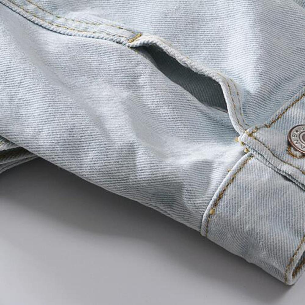 À Lxmsth Denim Bas Slim Light Antumn Manches Vers 2018 Le Unique Col Manteau Jeans Veste Turu Printemps Élégante Poitrine Femmes Mode Longues Blue FAFqwPxrn
