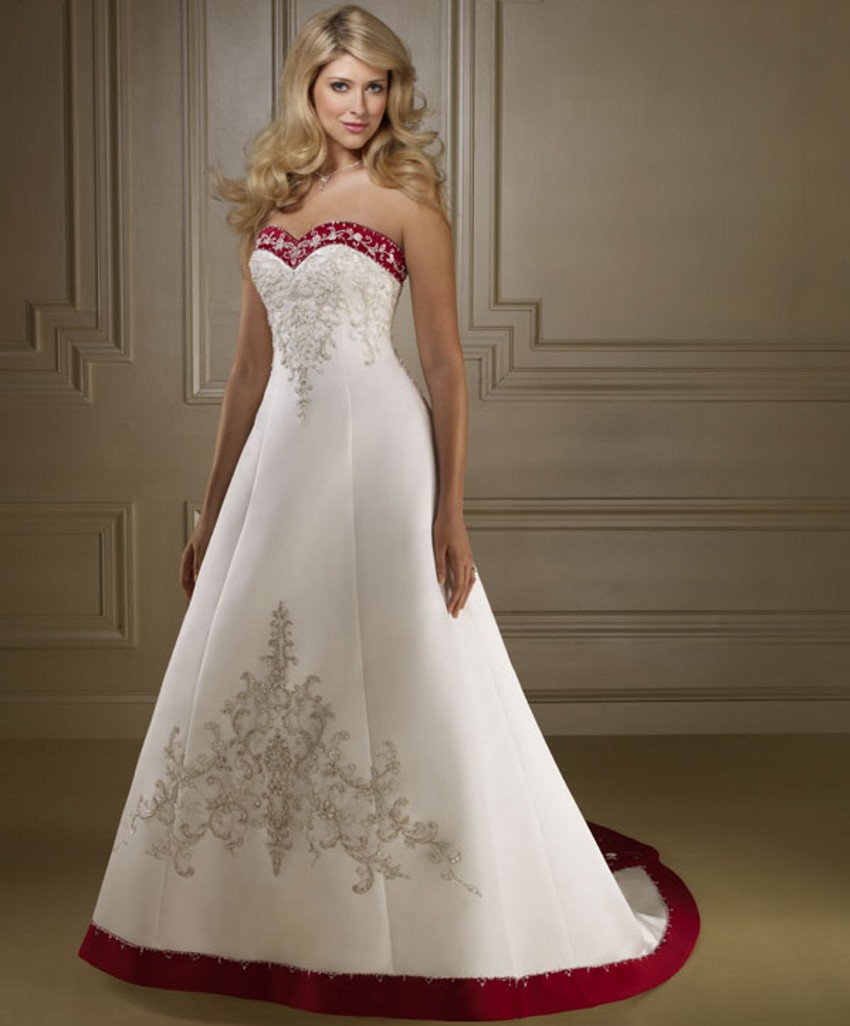 and White Wedding Dresses China robe de mariage mariee Wedding Gowns ...