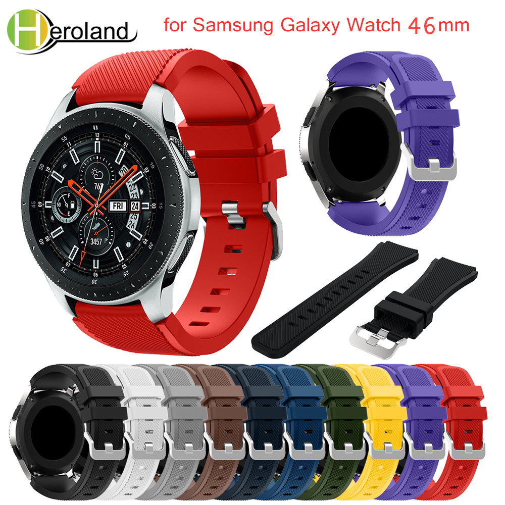 22mm strap watch band for Samsung Gear S3 Frontier Classic band Replacemet band for Samsung Galaxy Watch 46mm strap for gear s3 18 colors rubber wrist strap for samsung gear s3 frontier silicone watch band for samsung gear s3 classic bracelet band 22mm