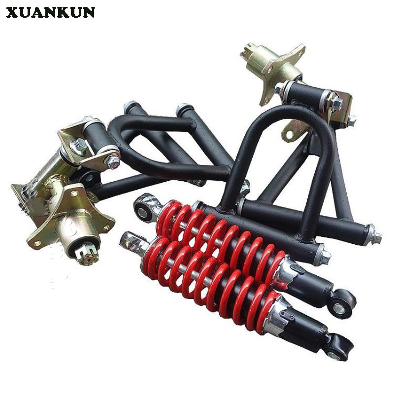 XUANKUN Self - Made Karting Suspension Kit ATV Accessories Rocker Arm Angle Steering Knuckle dc connector to 2pin 8mm 10mm connector with switch for single color led strip