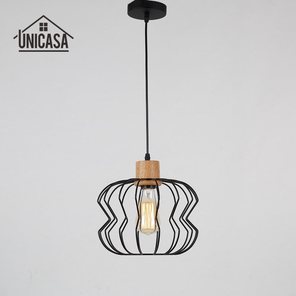 Industrial font b Chandelier b font Lighting Vintage Wooden LED Light font b Kitchen b font