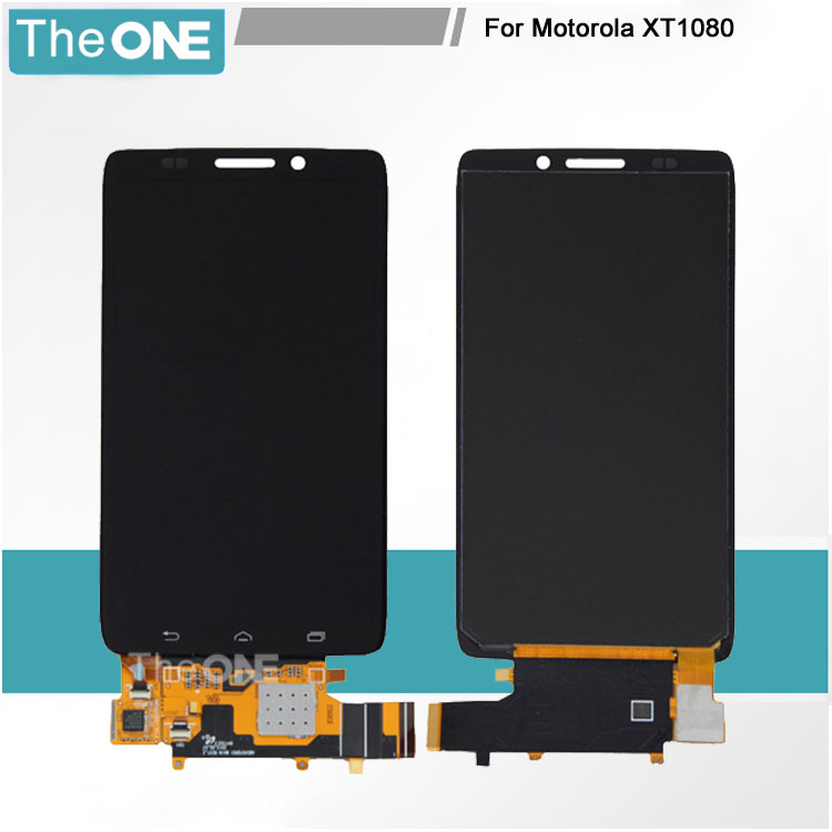 5 pcs free shipping+tracking For Motorola Moto XT1080 XT1080M lcd display touch screen digitizer full assembly replacement parts