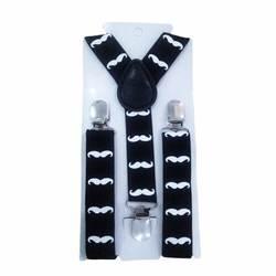 С милым принтом усы ремни-подтяжки для малыша ремень регулируется эластичные зажимы на Одежда для маленьких мальчиков Аксессуары