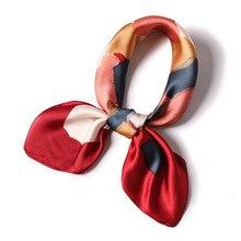 Fashion Scarves for Women Print Satin Silk Scarf Female 70*70cm Square Shawl Bandana Head Large Hijab Scarfs For Ladies 2019