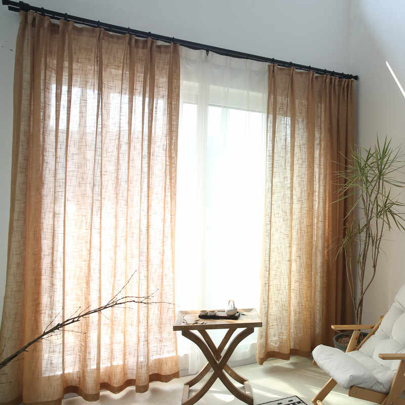 blue curtains solid tulle window modern living room linen white tulle curtains white yarn curtains s039&30