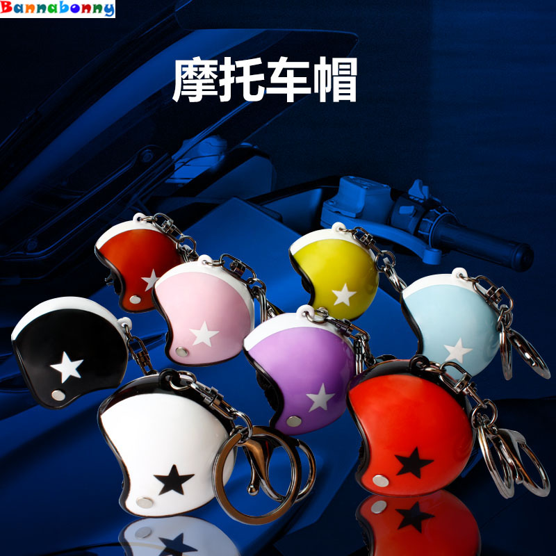 In Quality 10 Pcs/lot Motorcycle Safety Helmets Auto Car Accessories Five-star Rings Chain Creative Metal Superior