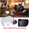 Free shipping!G8005 Mini Home Cinema Theater 1080P HD Multimedia USB LED Projector AV VGA HDMI