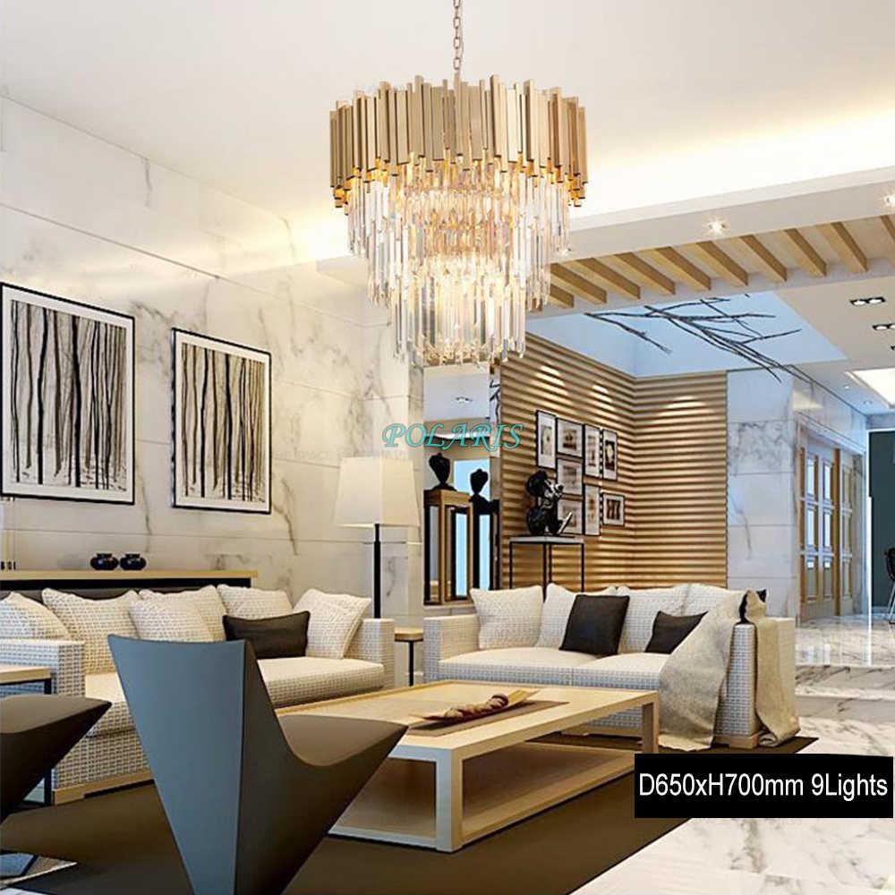Современная хрустальная люстра, светильник, Роскошная Современная Люстра, отель, гостиная, столовая, Хрустальный подвесной светильник