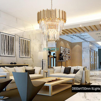 Modern Crystal Chandelier Lighting Fixture Luxury Contemporary Chandelier Hotel Living Dining Room Cristal Pendant Hanging Light