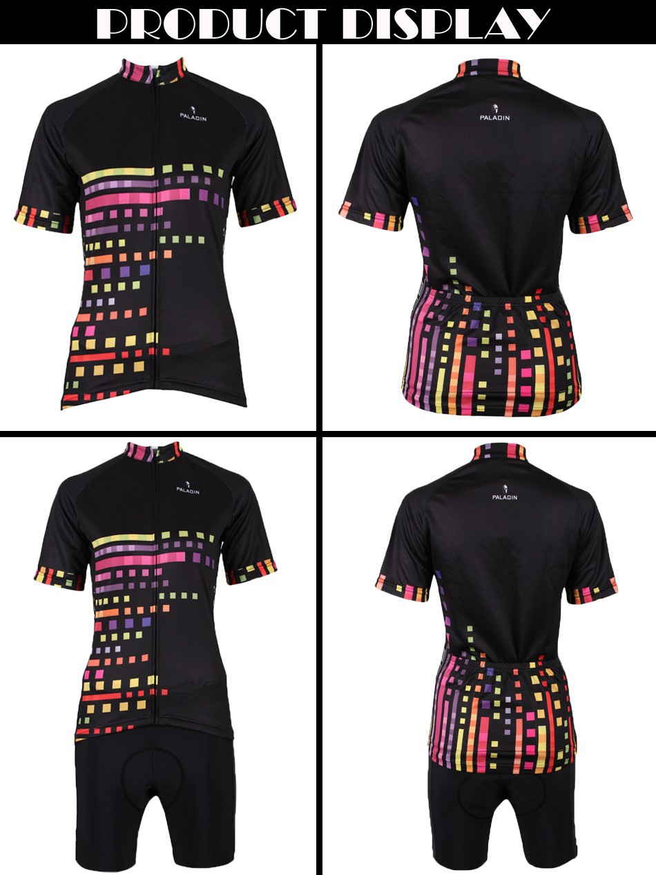 Paladin Color plaid cycling jersey woman ropa ciclismo mujer bicycle ... 2e86c782d