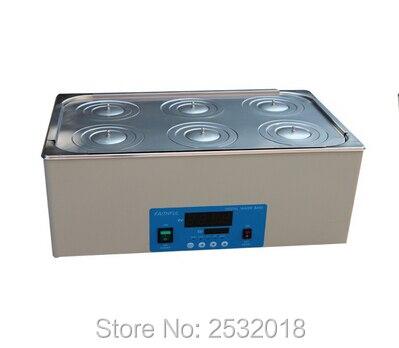 Baños de agua termostáticos de laboratorio 6 agujeros pueden estirar el revestimiento, ¡envío gratis!