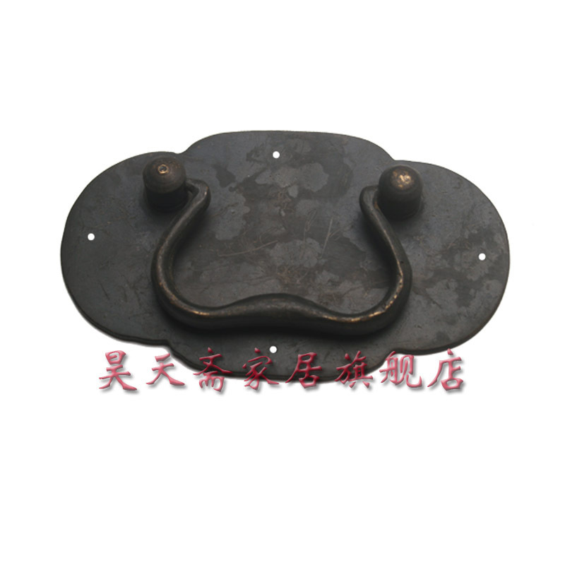 [Haotian vegetarian] antique copper handle / Chinese decoration accessories / copper handicrafts HTD-001 [haotian vegetarian] antique straight handle chinese decoration accessories copper handicrafts htc 042