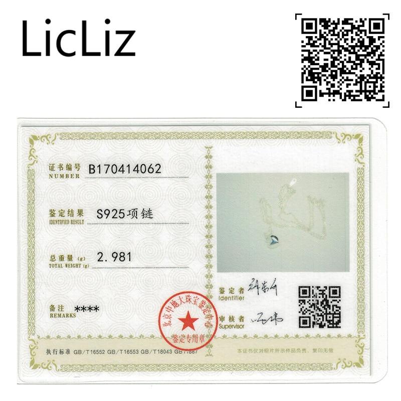 LicLiz Trendy 925 Sterling Gümüşü Güzgü Polyak Ürək Asılı - Gözəl zərgərlik - Fotoqrafiya 6