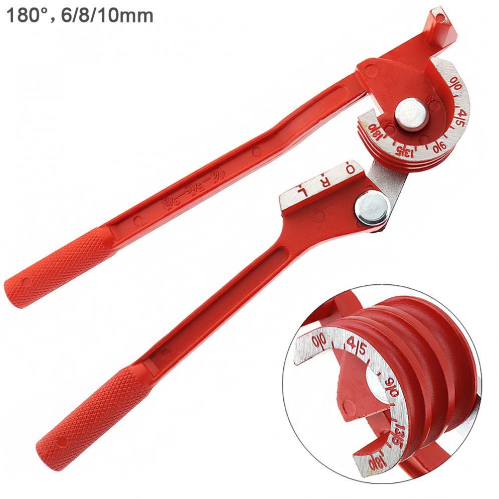 3 In 1 Manual Copper Pipe Tube Bender 6mm//8mm//10mm 180° Bending Elbow Tool new